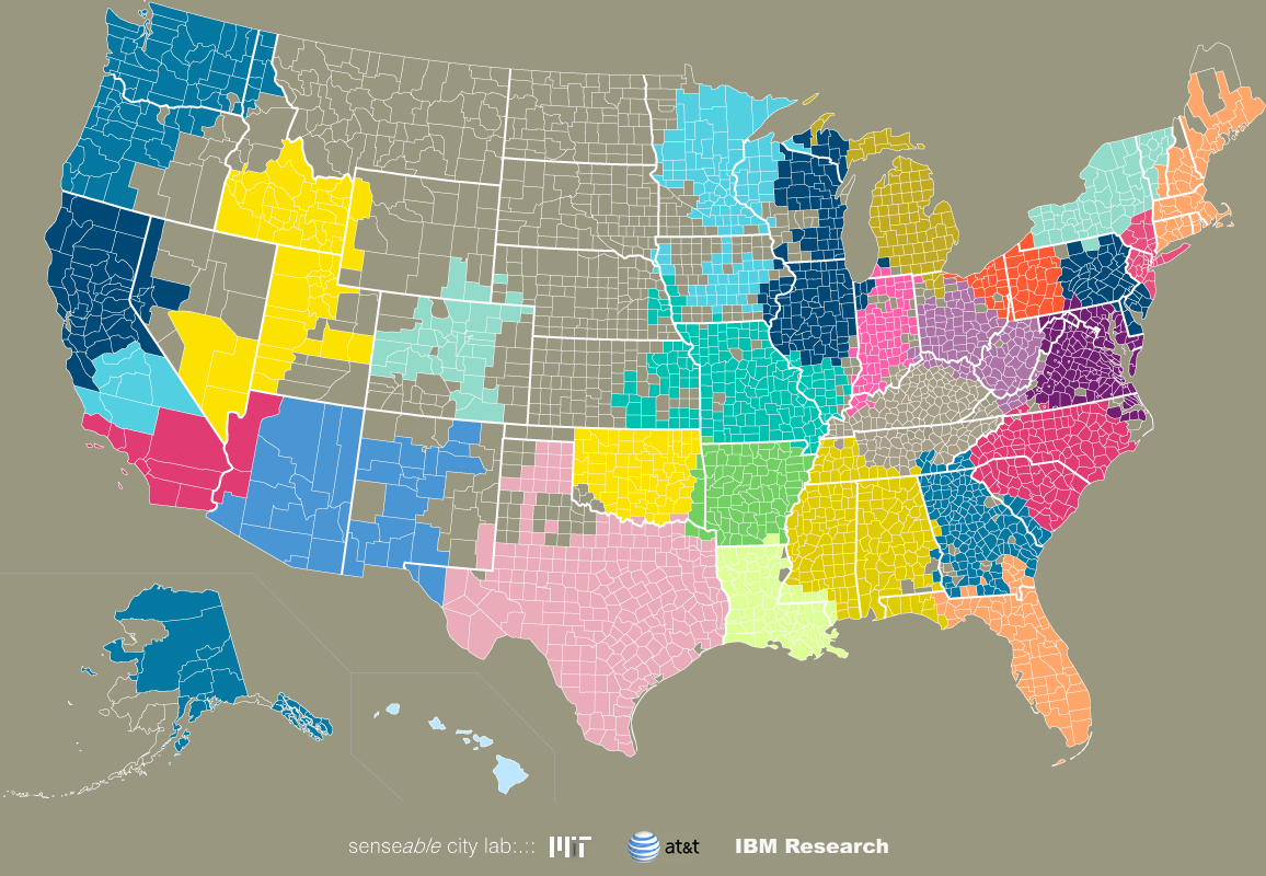 The Connected States of America Visuals